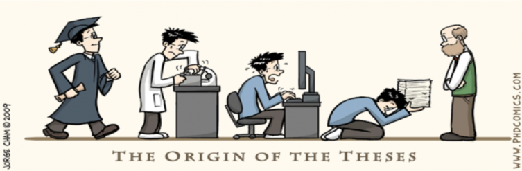 "PhD Comic, ""The Origin of the Theses"""